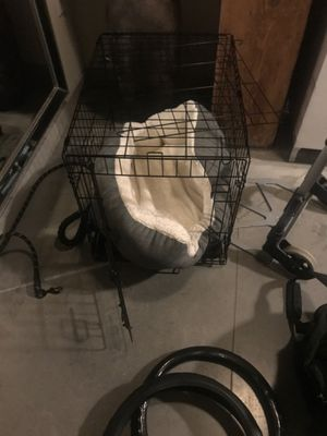 Dog cage with bed inside for Sale in The Bronx, NY