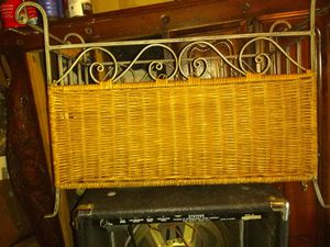 Wicker basket with iron frame for Sale in Hayward, CA