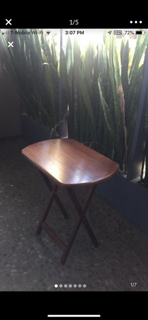 Wooden foldable/portable side table, Height 25 inches Width 23 inches for Sale in Beverly Hills, CA