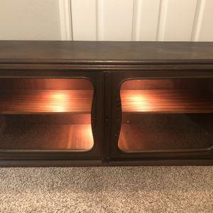 Antique Hardwood Display Case / Liquor Cabinet for Sale in Houston, TX