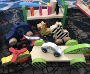 Big Lot of wood toys. Wooden puzzles, games and activities for kids for Sale in Phoenix, AZ