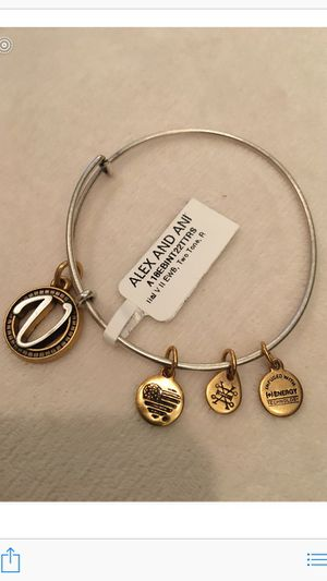 """NEW WITH TAG Alex and Ani Letter """"V"""" Bracelet ❗️IF POSTED THEN AVAILABLE❗️Christmas for Sale in Plainfield, IL"""