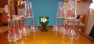 7-UP COLLECTIBLE GLASSES for Sale in Plant City, FL