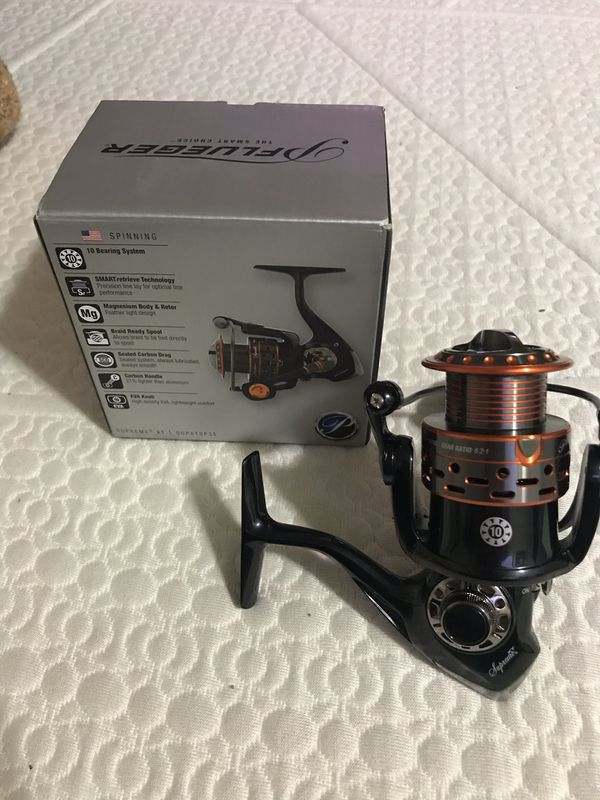 Brand new Pflueger supreme xt fishing reel retails for 150$ with box