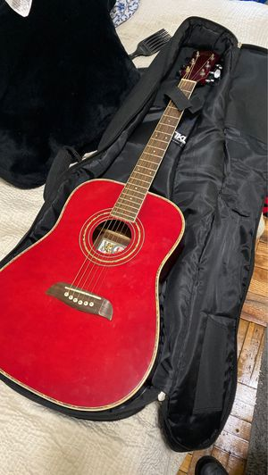 Oscar Schmidt Acoustic Guitar RED for Sale in Baltimore, MD