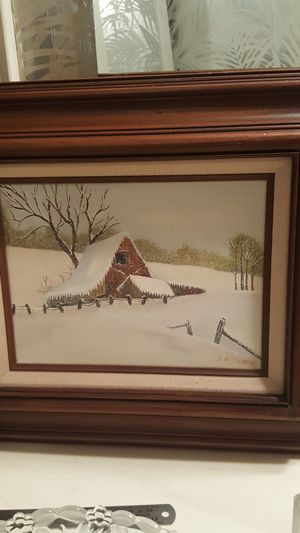 """17x20"""" Framed Snow Winter Painting for Sale in Houston, TX"""