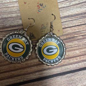 Green Bay Packers Earrings for Sale in Boynton Beach, FL