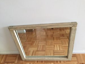 Vintage mirror with window wood frame for Sale in New York, NY