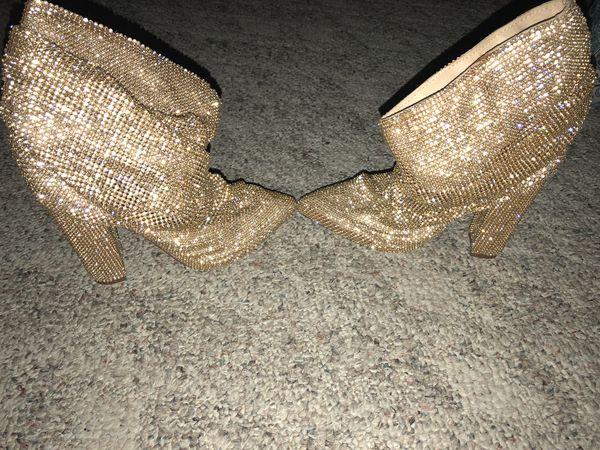 Gold Mid Calf Boots