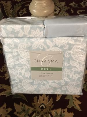 King size sheet set 6 pcs new for Sale in Warren, MI