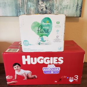 Huggies Diapers Size 3 & Pampers Baby Wipes for Sale in Bonita, CA