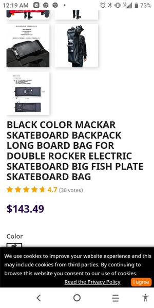 Black mackar skateboard backpack for Sale in Fountain Valley, CA