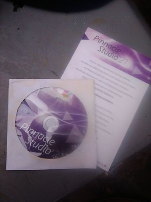 Pinnacle Studio 21 Install Disc and CD Key for Sale in Houston, TX