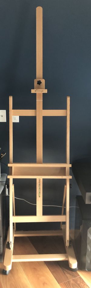 Studio Artist Easel, H-Frame Extra Large 360-Degree Spinner Wheel Rolling Adjustable Height for Sale in Boston, MA