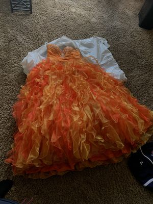 Red and Orange Quinceanera Dress for Sale in Aurora, IL