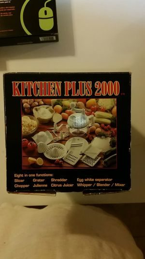 Brand new Kitchen plus 2000 ,Citrus Juicer Chopper ,greater ,whipper ,blender ,mixer ,egg white separator , slicer ,Chopper 8 in 1 functions for Sale in Seattle, WA