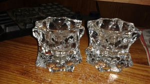 2 Crystal Candle Holders for Sale in Lake Wales, FL