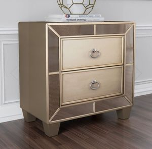 Gold mirrored nightstand for Sale in Phoenix, AZ