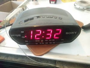SONY ICF-C211 Dream Machine AM/FM Alarm, Snooze Clock Radio Black Tested/Works for Sale in Pahrump, NV