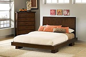 Brown Real wood Queen Size Bed Frame for Sale in Salem, OR