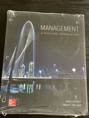 Intro to Management // College TextBook for Sale in Green Bay, WI