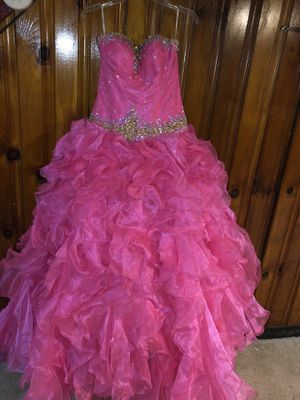 Pink n silver prom or wedding dress size 9 for Sale in Upper Darby, PA