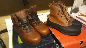 Sr Max and Wolverine steel toe work boots. Size 10.5 new in box best offer for Sale in Baltimore, MD