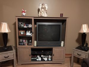 Entertainment center and 2 end tables for Sale in East Providence, RI