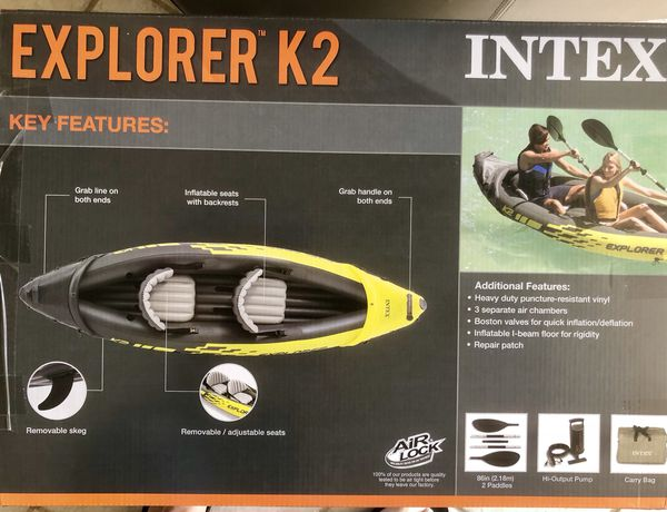 Intex Explorer Two-person Kayak with oars for Sale in Naples, FL - OfferUp