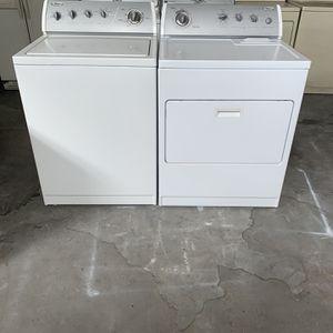 Washer And Dryer Whirlpool Good Condition 90 Days Warranty Lavadora Y Secadora Eléctrica Buenas Condiciones Whirlpool 90 Dias De Garantia for Sale in San Leandro, CA