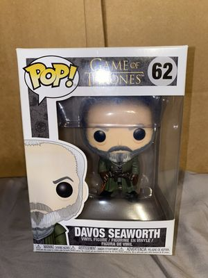 Funko Pop! Game of Thrones Davos Seaworth #62 - GOT for Sale in Hawthorne, CA