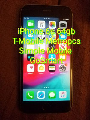 iPhone 6s 64gb T-Mobile Metropcs Simple Mobile Go Smart for Sale in Cleveland, OH