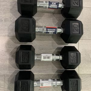 Dumbbells Rubber Hex 15lbs 20lbs Weiders for Sale in Orange, CA