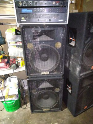 Yamaha DJ or PA speakers with stands for Sale in Bolingbrook, IL
