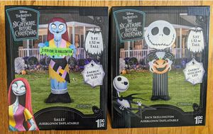 Brand New! Nightmare Before Christmas Jack and Sally Inflatable! for Sale in Tucson, AZ
