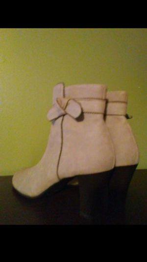 Beige chunky heel booties for Sale in Springfield, MA