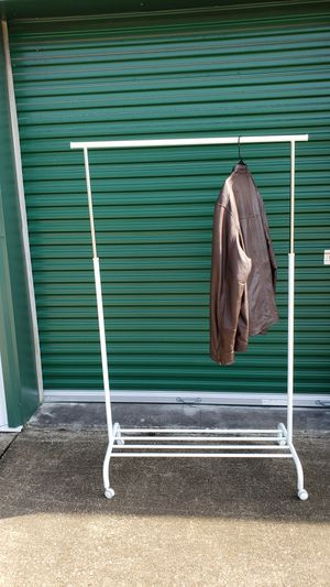 Rolling clothing rack for Sale in Seffner, FL