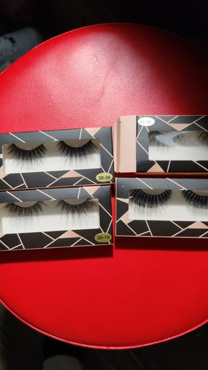 4 single pair lashes for Sale in Westminster, CA