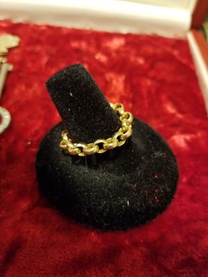 Gold rolo chain ring for Sale in Tacoma, WA