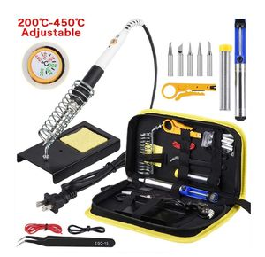 Soldering Iron Kit, 14 in 1 110V 20W to 60W Adjustable Temperature Soldering Iron,1xDesoldering Pump,1xSoldering Station, for Sale in Garden Grove, CA
