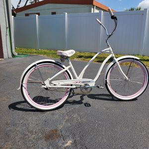Electra Betty 3 speed beach cruiser with flames flame tires pink rims white walls for Sale in Largo, FL