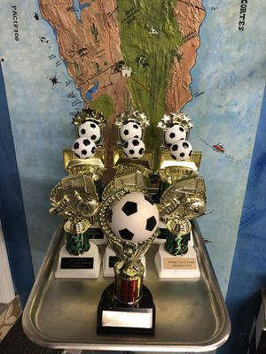 Soccer trophies lot of 10 mixed designs for Sale in Mission Viejo, CA