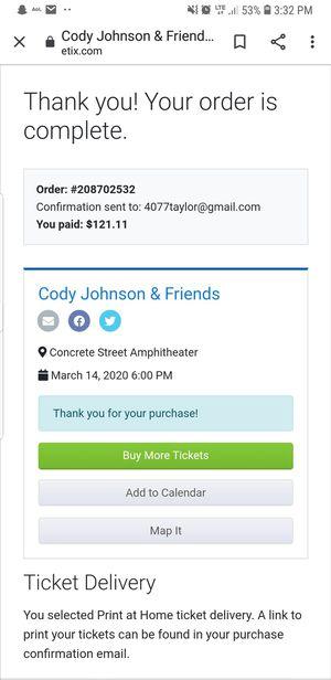 Cody Johnson Tickets for Sale in Ingleside, TX
