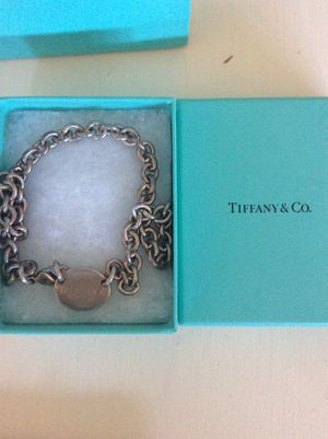 Tiffany and co tag necklace with original box and bag for Sale in Las Vegas, NV