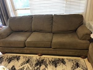 Large Ashly sofas two clean no stains or tear free pets and smoke house can sell separate or together $1 for Sale in Murrieta, CA