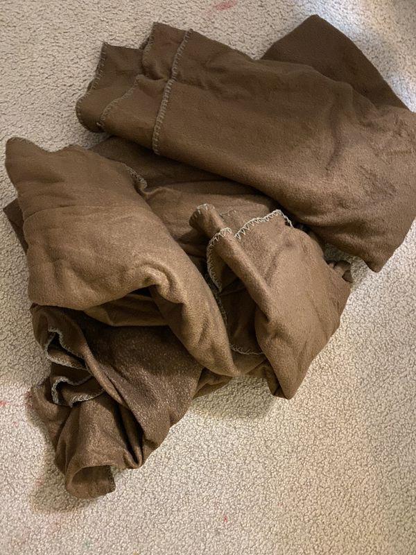 3 Dark brown muave blankets
