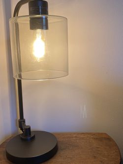 Vintage Clear Glass And Metal With Edison Light Bulb Lamp for Sale in San Francisco,  CA