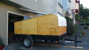 Teardrop Trailer (6' x 10') - Pop up roof w Solar, Water, 120V plug in for Sale in Colma, CA