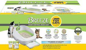 Purina Tidy Cats Litter Box System, Breeze System Starter Kit Litter Box, Litter Pellets & Pads for Sale in Jurupa Valley, CA