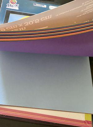 Stationary, construction paper, stencils for Sale in Palo Alto, CA